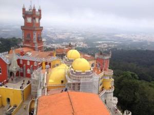 Pintura das fachadas do Palácio da Pena em Sintra